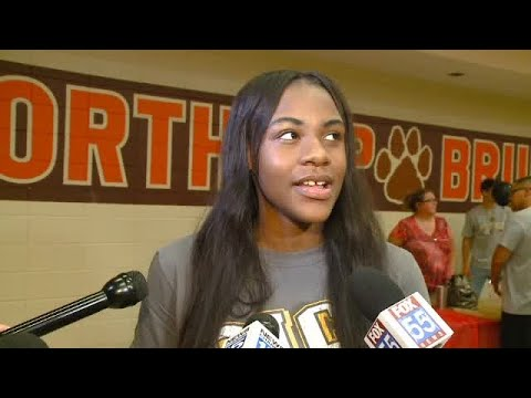 Bre'anna Douglas full interview on signing with Southeastern Illinois college basketball on 5/14/18