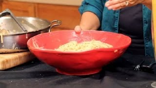 Pasta With Mushrooms & Sun-dried Tomatoes In A Cream Sauce : Italian Cuisine