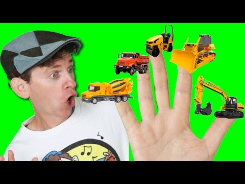 Thumbnail: Finger Family Song - Construction Trucks with Matt | Action Song, Nursery Rhyme | Learn English