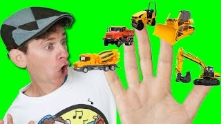 Finger Family Song - Construction Trucks with Matt | Action Song, Nursery Rhyme | Learn English