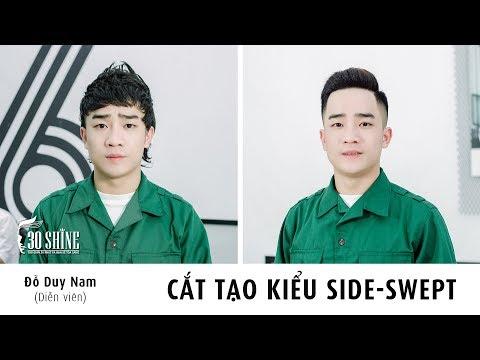 Cắt tạo kiểu Side Swept   Diễn viên Đỗ Duy Nam   MV Ngày Nhập Ngũ ( Mình Cưới Nhau Đi Parody )