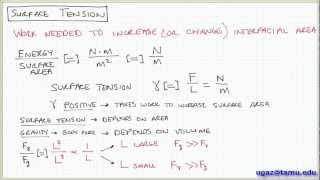 Surface Tension, part 1 - Lecture 1.3 - Chemical Engineering Fluid Mechanics