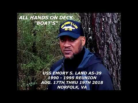 "(TRIBUTE}...USS EMORY S. LAND AS-39...""ALL HANDS ON DECK"""