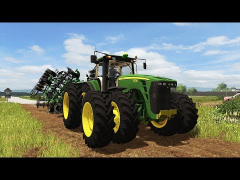 FARMING SIMULATOR 2017 | THEE JOHN DEERE 8530 ARRIVED AT THE FARM + FALL TILLAGE | EP #20