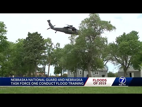Nebraska National Guard and Nebraska Task Force One conduct flood rescue training