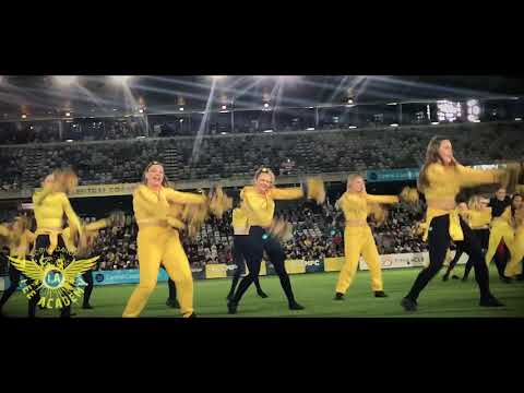 Lee Academy performing at CC Mariners - Usain Bolt trial game