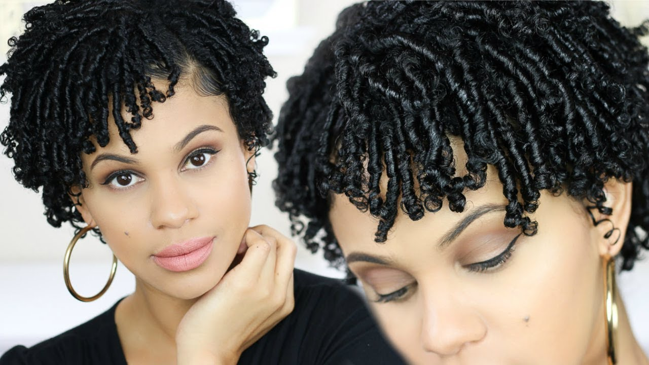 How To Finger Coils On Short Natural Hair Youtube