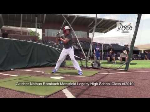 Catcher Nathan Rombach Mansfield Legacy High School Class of2019
