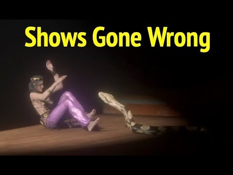 Shows Gone Wrong In Red Dead Redemption 2 Rdr2 All Theater Shows With Gaffes And Bloopers