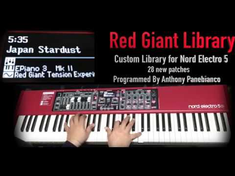 Red Giant Library - Custom Sound Library for Nord Electro 5 Series / Nord Stage 2 Series