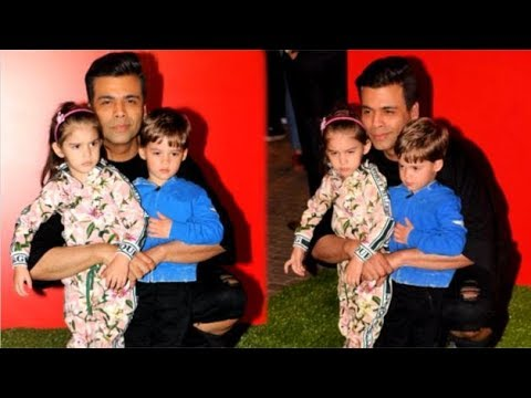 Karan Johar Can't Stay WITHOUT His CUTE Kids Roohi & Yash Johar At Jio Wonderland Event