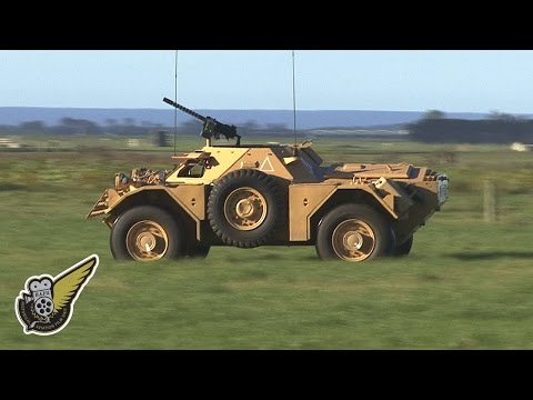 Ride In A 1950s British Army Scout Car