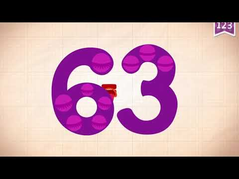Learn Number 63 In English & Counting, Math By Endless Numbers   Kids Video