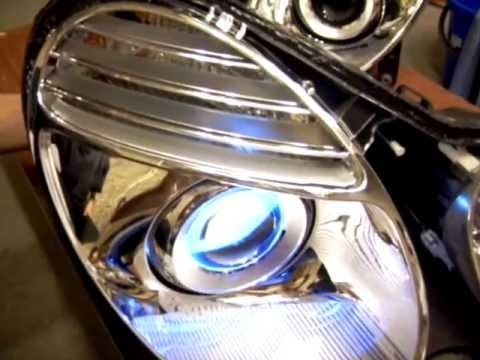 Свет фар MB W211. Projector Headlights Restoration.