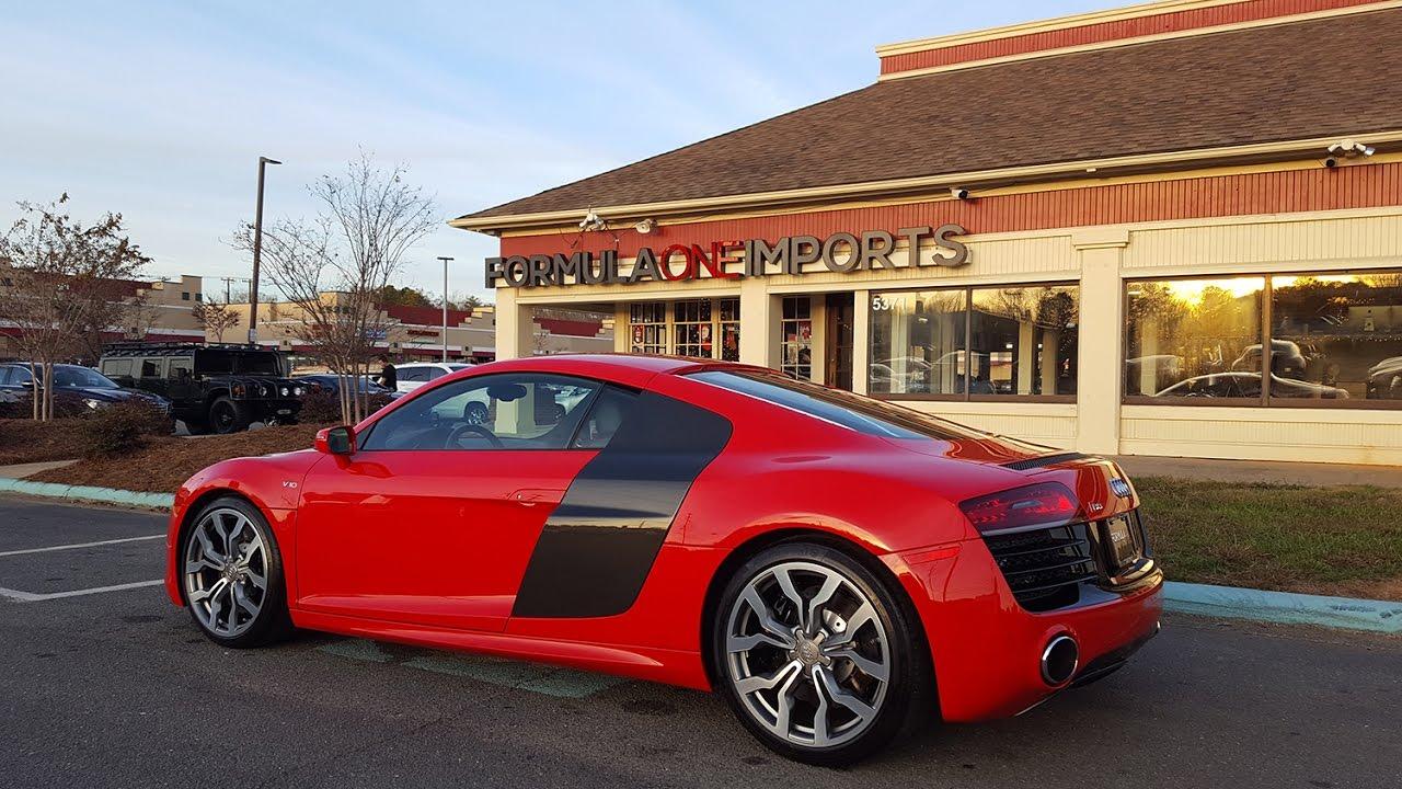 2014 Audi R8 V10 Red Carbon Fiber Formula One Imports Charlotte