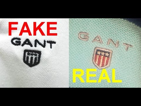 d1fcd14530 Real vs. Fake GANT polo shirt. How to spot fake Gant polos - YouTube