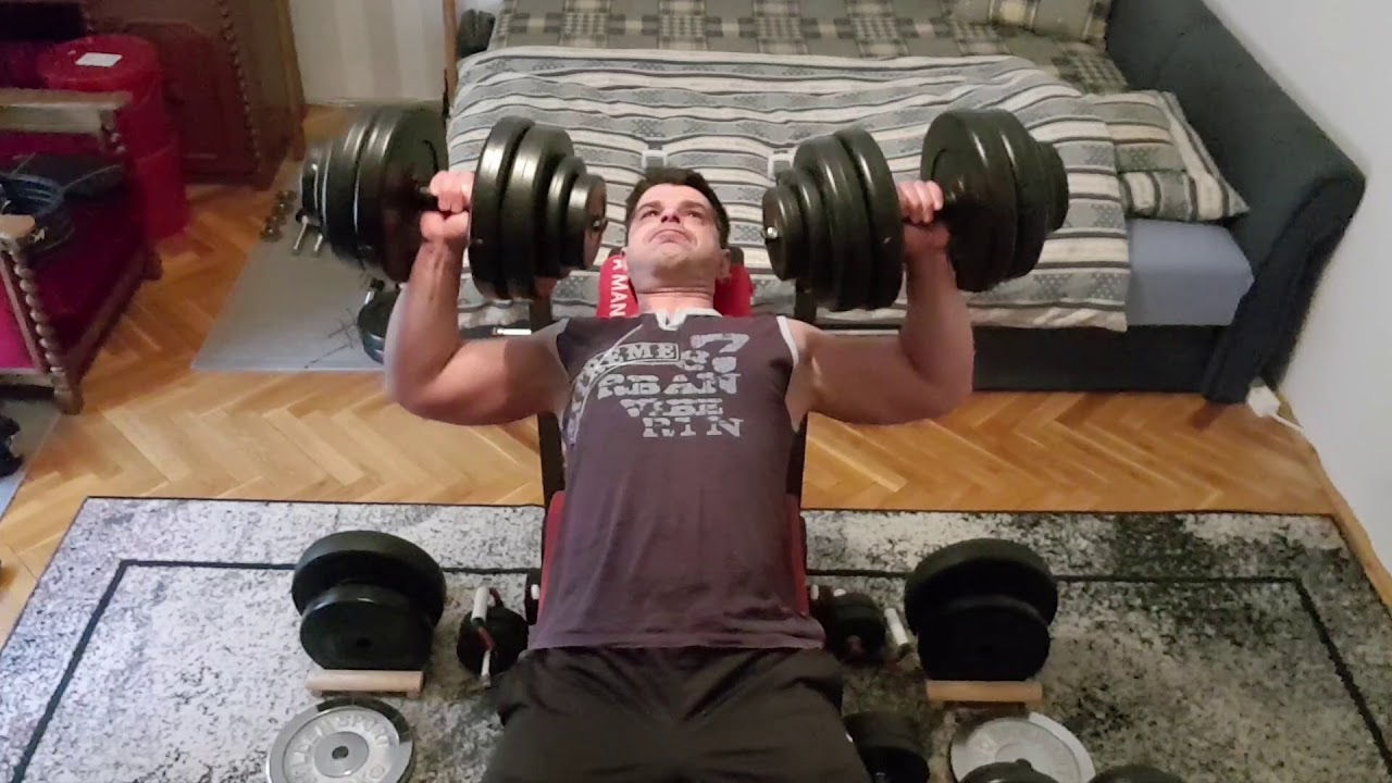 Incline Dumbbell Press 18 Reps With 25