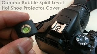 Camera Bubble Spirit Level + Hot Shoe Protector Cover