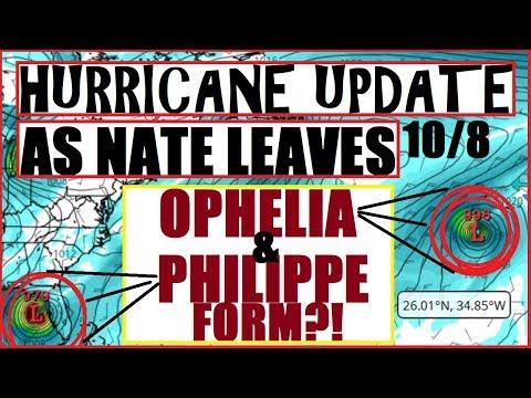 Hurricane UPDATE! Goodbye NATE, Hello OPHELIA & PHILIPPE?! 10/8/17