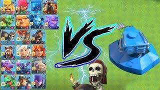 all Troops max VS 1 Shock Blaster max coc on funny attack 2018