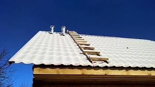 как сделать лестницу на крышу