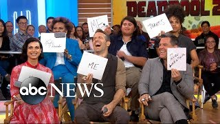 Deadpool 2 cast faces off in Deadpool Confessions on GMA