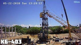видео Демонтаж башенного крана в Барнауле