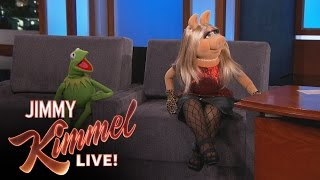 Kermit the Frog & Miss Piggy on Jimmy Kimmel Live