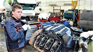 Фото Двигатель Scania V8 16 литров DC 16 Диагностика и ремонт. Часть 1. Engine Scania Repair MOTORS TRUCK