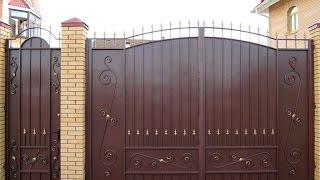 видео Виды и преимущества кованых ворот