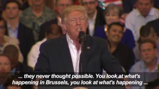 Trump refers to non existent Sweden terror incident