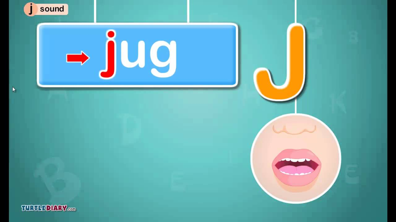 Letter J Sound Phonics By Turtlediary Youtube