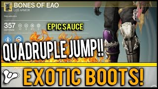 Destiny: Bones of EAO Review NEW Exotic Hunter Boots! | Jump FOUR times with Gunslinger!!