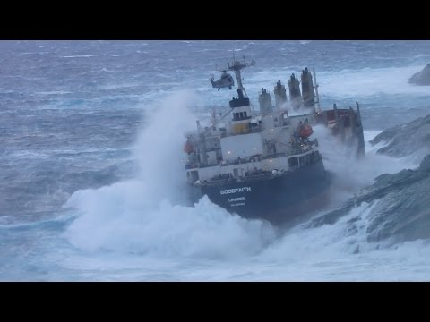 Incredible video!!! Greek air force rescues crew from cargo ship Goodfaith