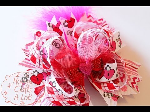 add tulle hair bows