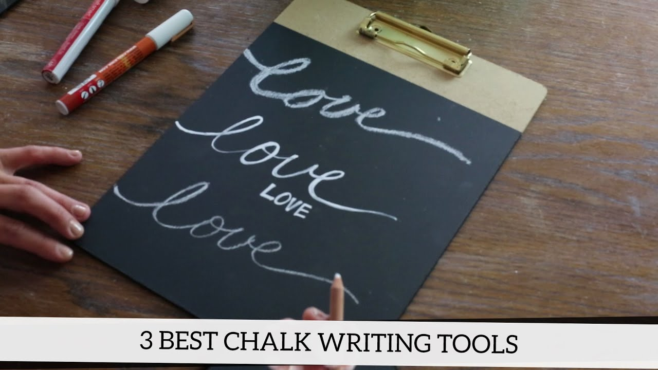 how to write on a chalkboard the 3 best chalk writing tools youtube