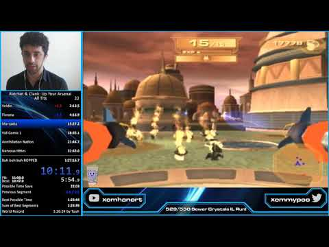 [World Record] Ratchet and Clank: Up Your Arsenal All Titanium Bolts Speedrun in 1:25:25