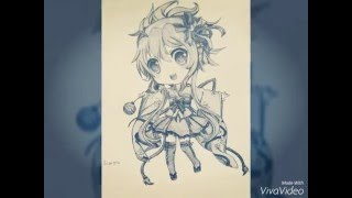 Draw Chibi Scorpio Girl By Haya