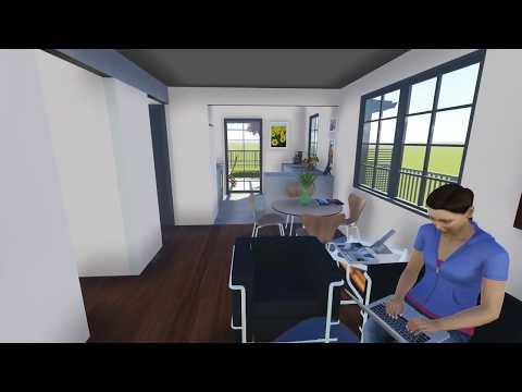 Vivienda biocasas de 6m x 6m doovi for Casa moderna minimalista interior 6m x 12 50m