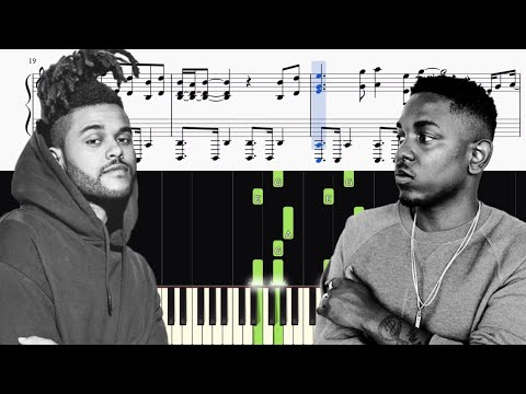 The Weeknd & Kendrick Lamar - Pray For Me - Piano Tutorial + SHEETS