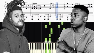 The Weeknd & Kendrick Lamar - Pray For Me - Piano Tutorial + SHEETS
