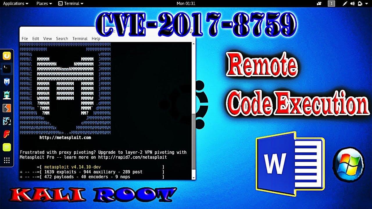 CVE-2017-8759 Kali Linux