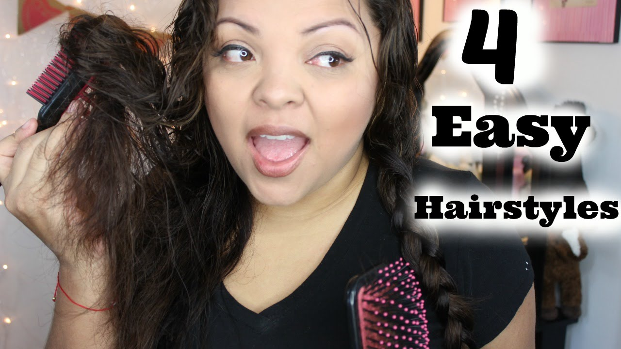 cute & easy heatless hairstyles | wavy/frizzy hair!! - youtube