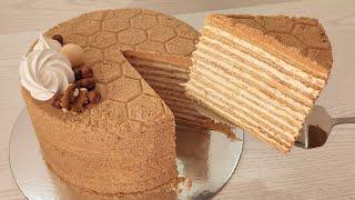 торт МЕДОВИК идеальный рецепт Коржи всегда РОВНЫЕ не сжимаются при выпекании тает во рту