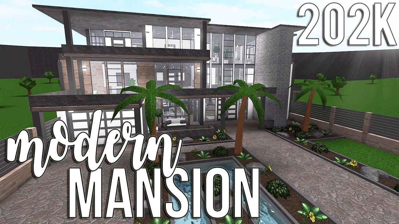 Roblox Bloxburg Modern Mansion 202k Youtube