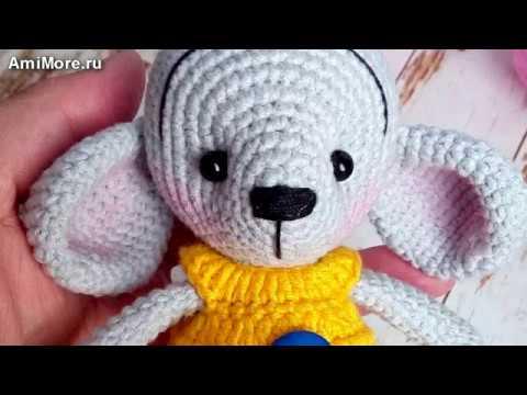 амигуруми схема мышонка в комбинезоне игрушки вязаные крючком