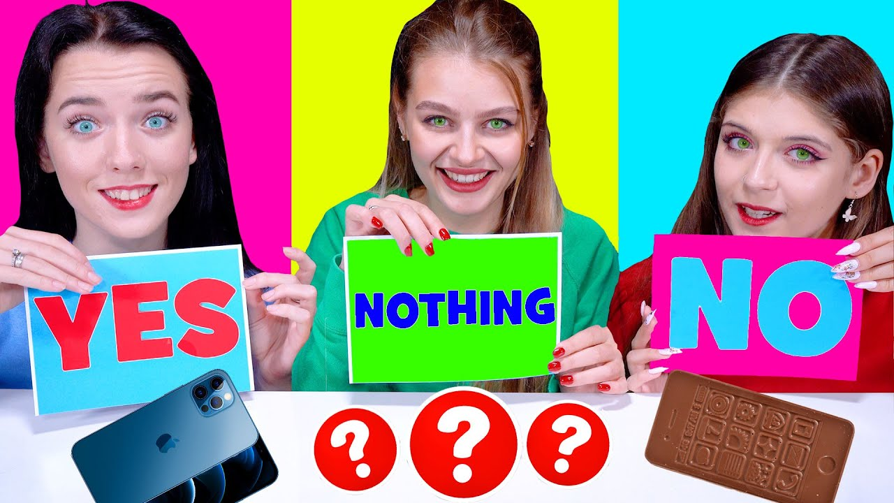 Download ASMR Yes or No and Nothing Food Challenge   Eating Sounds LiLiBu