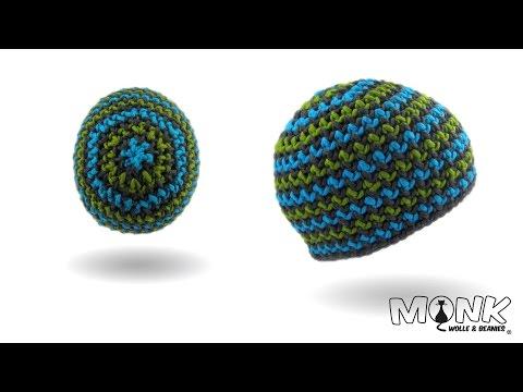 Mütze häkeln – Hook Beanie – Farbwechsel – (ohne Innennaht)