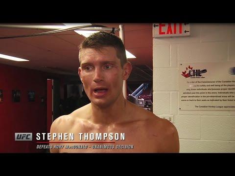 Fight Night Ottawa: Stephen Thompson Backstage Interview