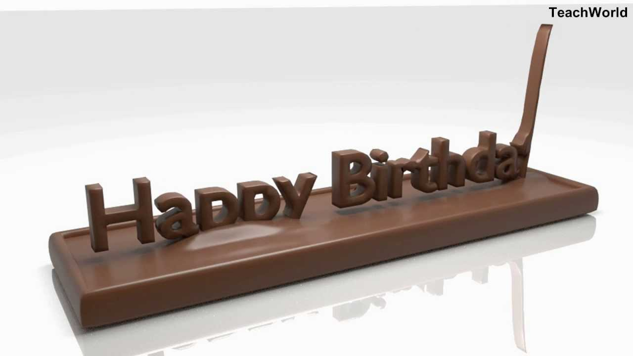 Best Birthday Wishes In The World Made From CHOCOLATE